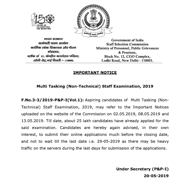 SSC MTS 2019 Registration