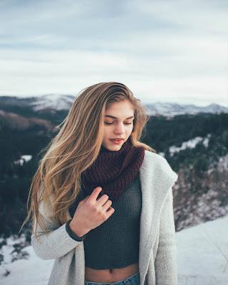 pose tumblr de invierno nieve casual
