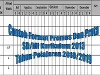 Contoh Format Promes Dan Prota SD/MI Kurikulum 2013 Tahun Pelajaran 2018/2019