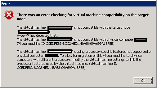There was an error checking for virtual machine