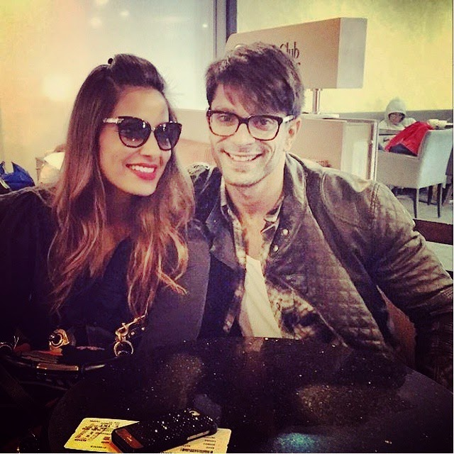 bipasha basu and karansinghgrover before heading to indore! 