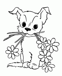 Cute Pupy Coloring Pages For Kids Download For Free Online