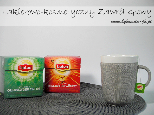 Lipton Dynamic Gunpowder Green Daring English Breakfast herbata zielona czarna