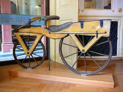 """""""Draisine  o Laufmaschine"""" al rededor de 1820"""