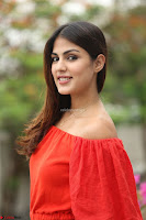 Rhea Chakraborty in Red Crop Top and Denim Shorts Spicy Pics ~  Exclusive 201.JPG