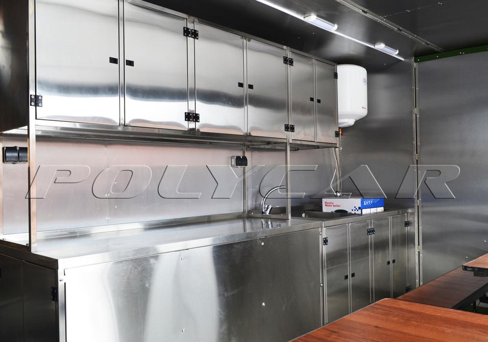 Мобільна кухня трансформер на базі двовісного причепа МАЗ 837300