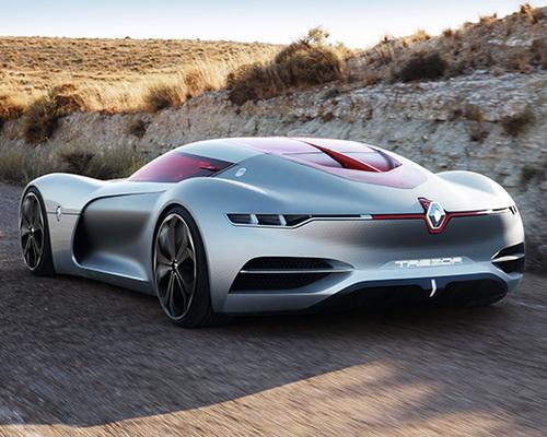 www.Tinuku.com Renault Trezor electric concept car sport stylish unveiled at Paris Motor Show 2016