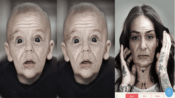 Application Oldify: know your face shape in 30 years or more.