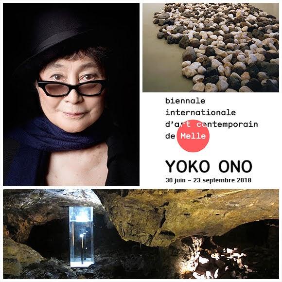 Des œuvres de Yoko Ono à la Biennale d'art contemporain de Melle