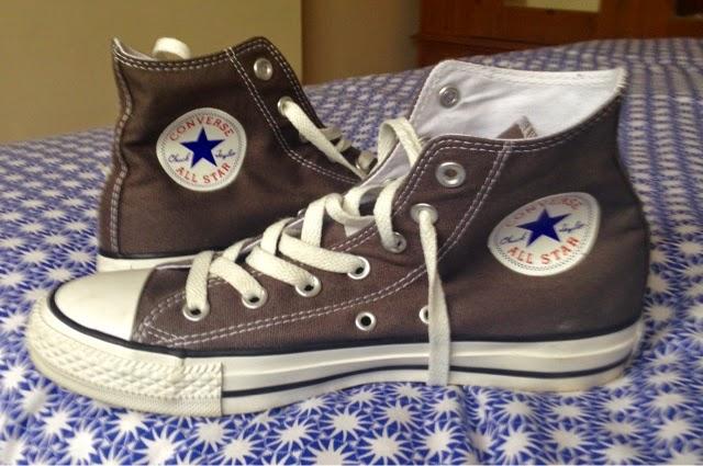 Grey Converse All Stars