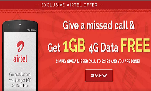 Airtel Offer: How to Get 1 GB 4G Free Internet Data?