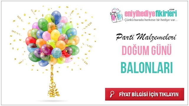 doğum gününe özel mesajlı balonlar