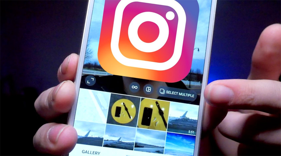 Upload banyak foto dan video di Instagram
