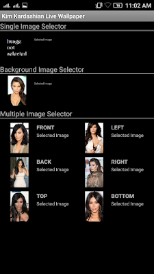Kim Kardashian 3D live Wallpaper For Android Mobile Phone