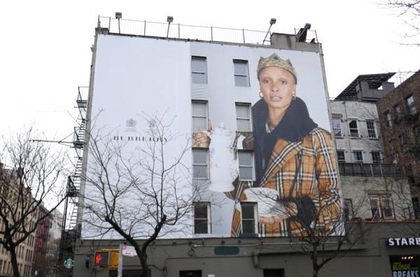 Burberry teapot billboard NYC