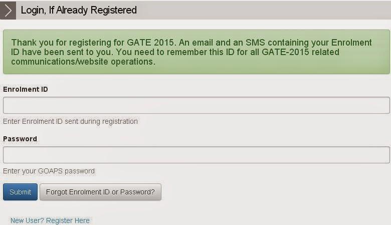 Gate 2015 Login
