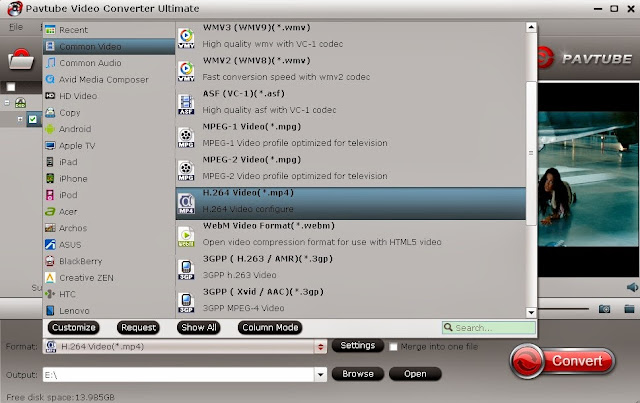 convert dvd to h.264 mp4 for tv