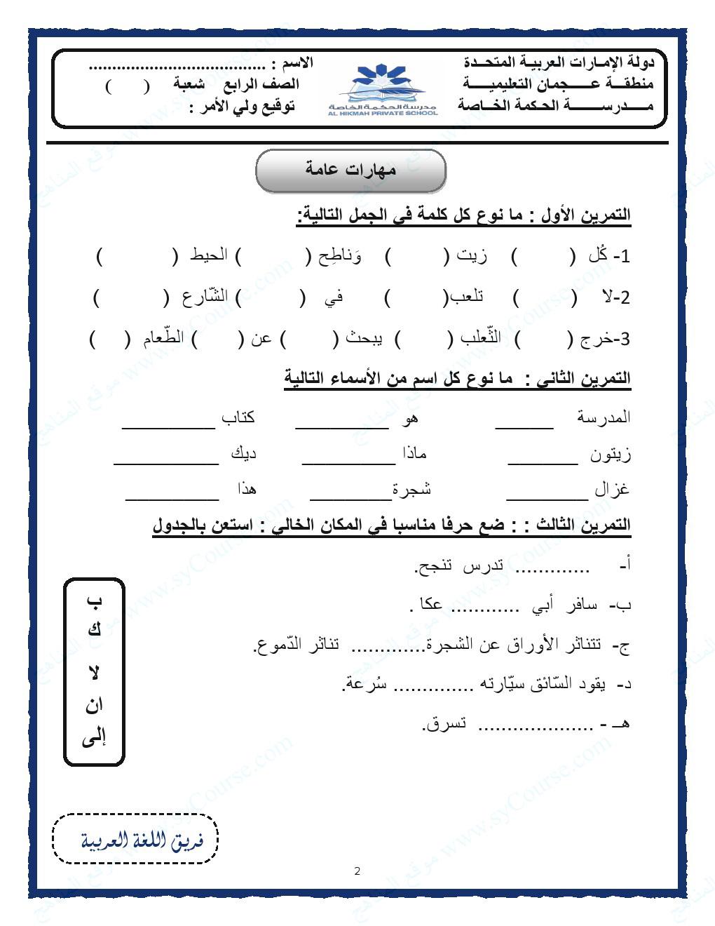 حل اسئلة كتاب الفلسفة للصف الاول الثانوى