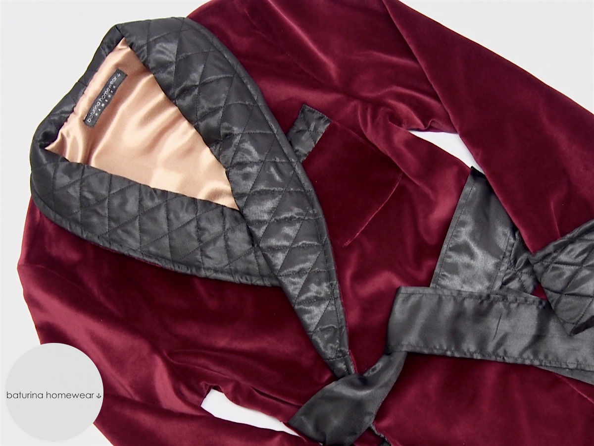 Men\'s Red Velvet Dressing Gowns, Smoking Jackets and Victorian ...