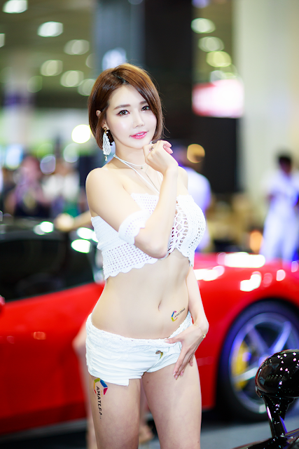 Han Ga Eun - Seoul Auto Salon 2017 - very cute asian girl - girlcute4u.blogspot.com (2)