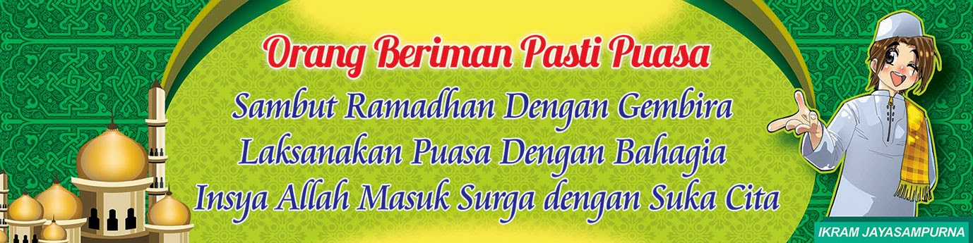 Contoh Desain Banner Menyambut Ramadhan