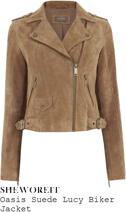lucy-mecklenburgh-oasis-natural-tan-textured-suede-biker-jacket