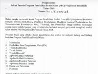 Seleksi Peserta PPG Prajabatan Bersubsidi 2018