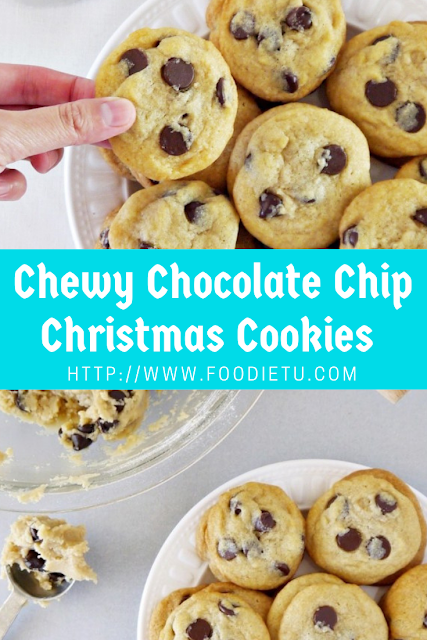 Chewy Chocolate Chip Christmas Cookies