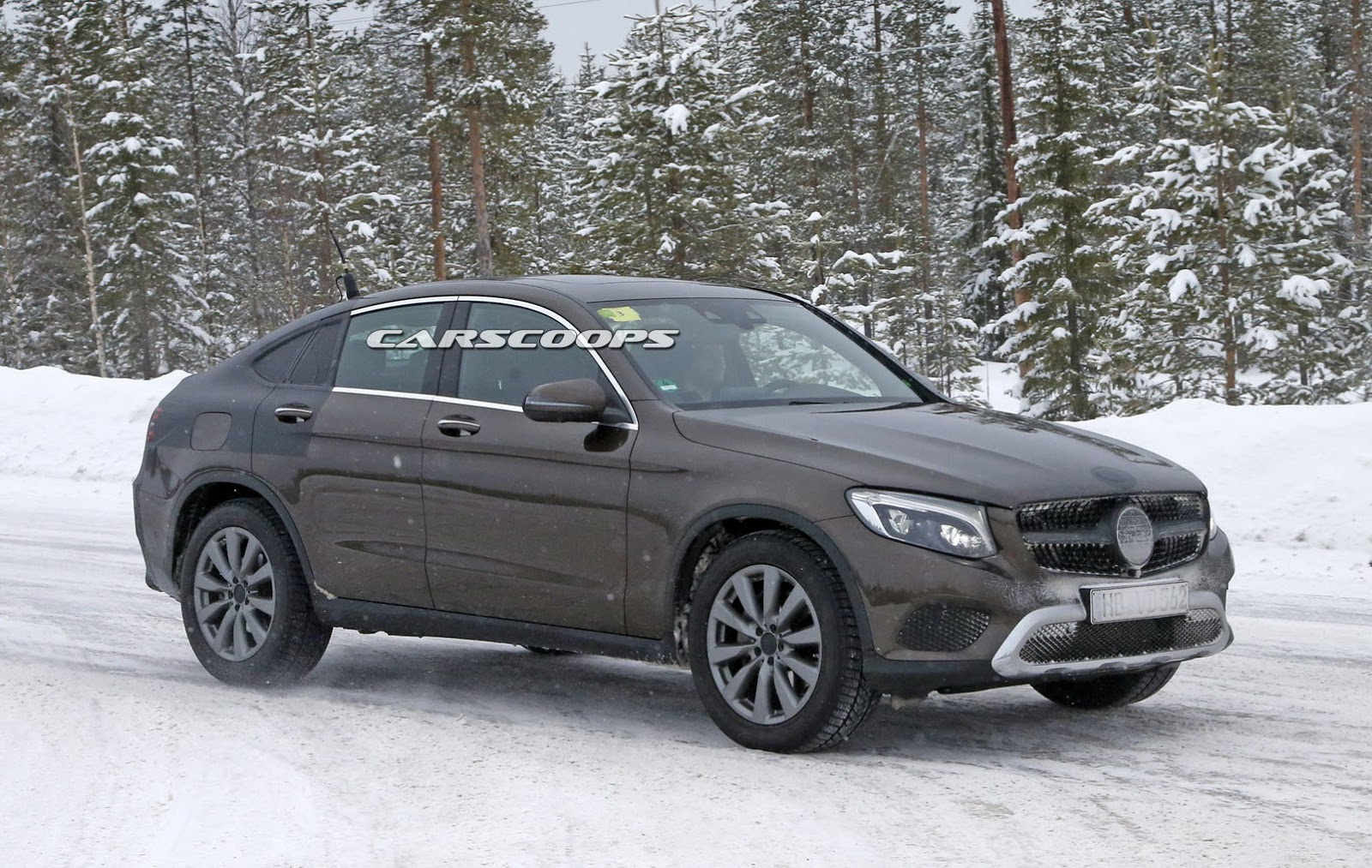 2017 mercedes glc coupe caught virtually undisguised. Black Bedroom Furniture Sets. Home Design Ideas
