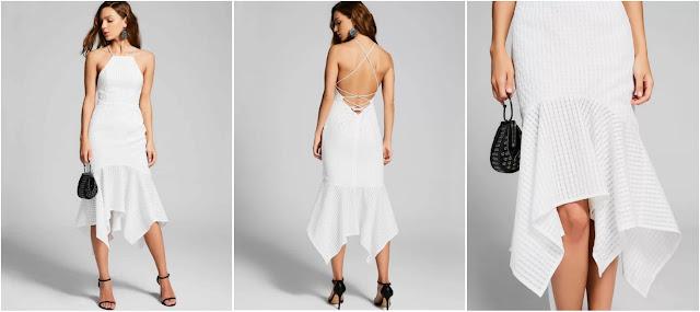ZAFUL   WHITE COCKTAIL DRESS