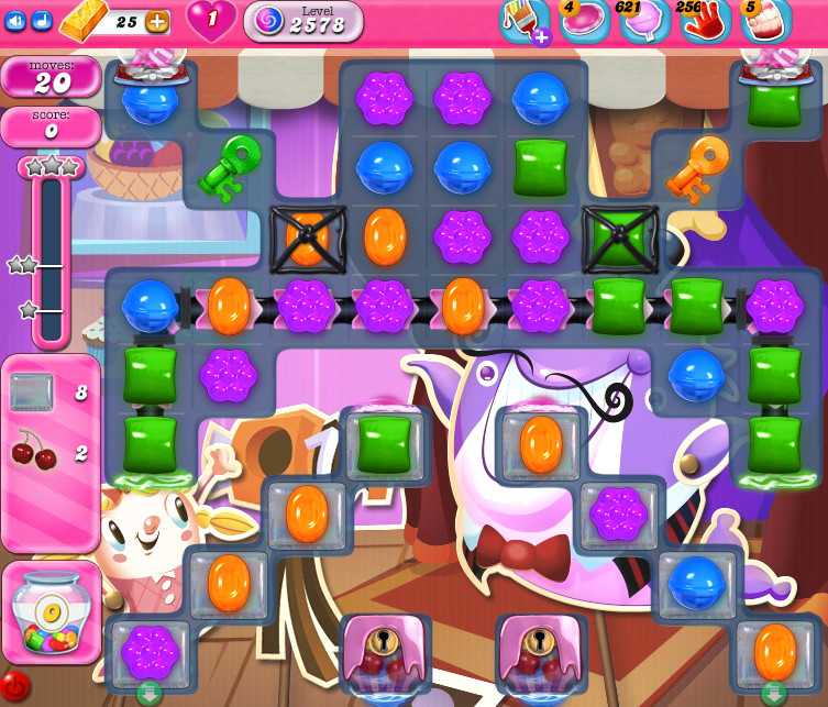 Candy Crush Saga level 2578