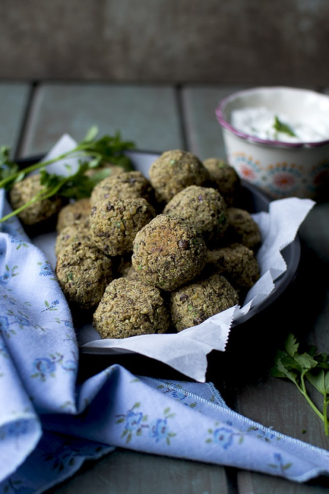 Falafel with Quinoa and Chickpeas