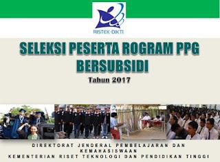 Program Pendidikan Profesi Guru (PPG) Bersubsidi 2017