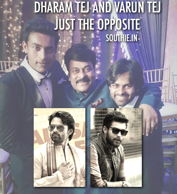 Sai Dharam Tej and Varun Tej are just opposite in planning. Sai Dharam Tej who looks like Chiranjeevi in his younger days takes heavy inspiration from Megastar, while Varun Tej is totally different. varun Tej, sai Dharam Tej, Megastar Chiranjeevi, varun tej and Sai Dharam Tej, SDT, Varun, Megastar, Supreme, Mega Prince, supreme Hero