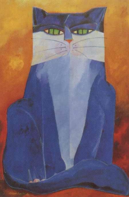 Gato - Aldemir Martins e suas pinturas ~ O pintor de gatos