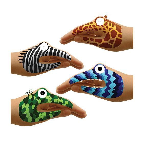 Animal hand tattoos