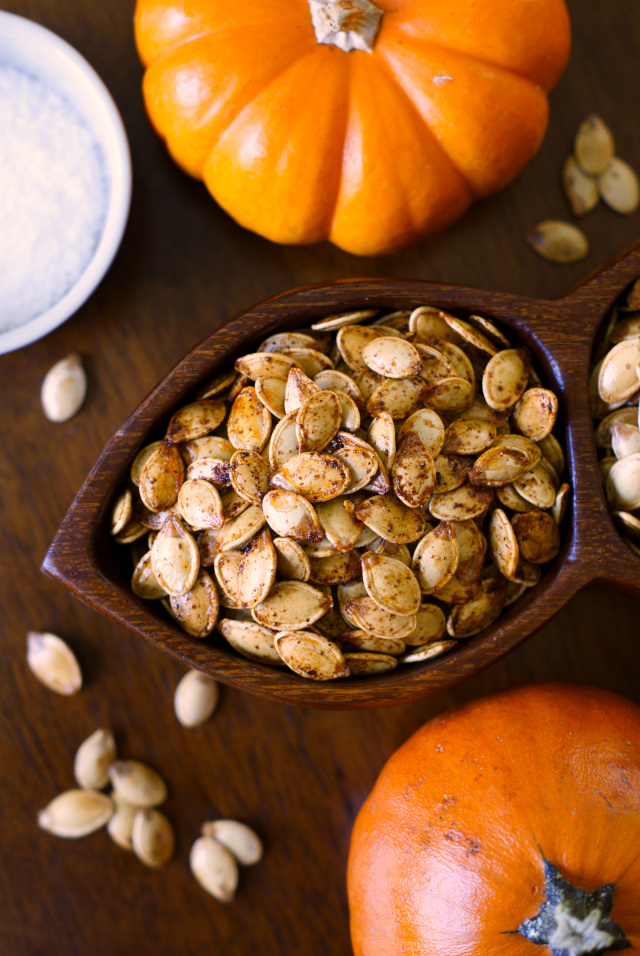 Roasted Pumpkin Seeds | The Two Bite Club