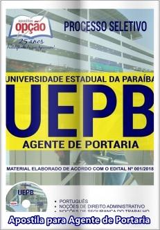 Apostila concurso UEPB 2018 Agente de Portaria