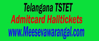 Telangana TSTET Exam Admitcard-Halltickets Download
