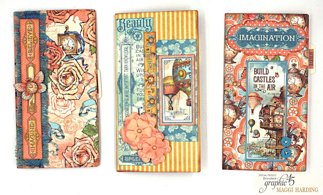 Graphic 45 Imagine Travelers Notebook Mini Album Signatures