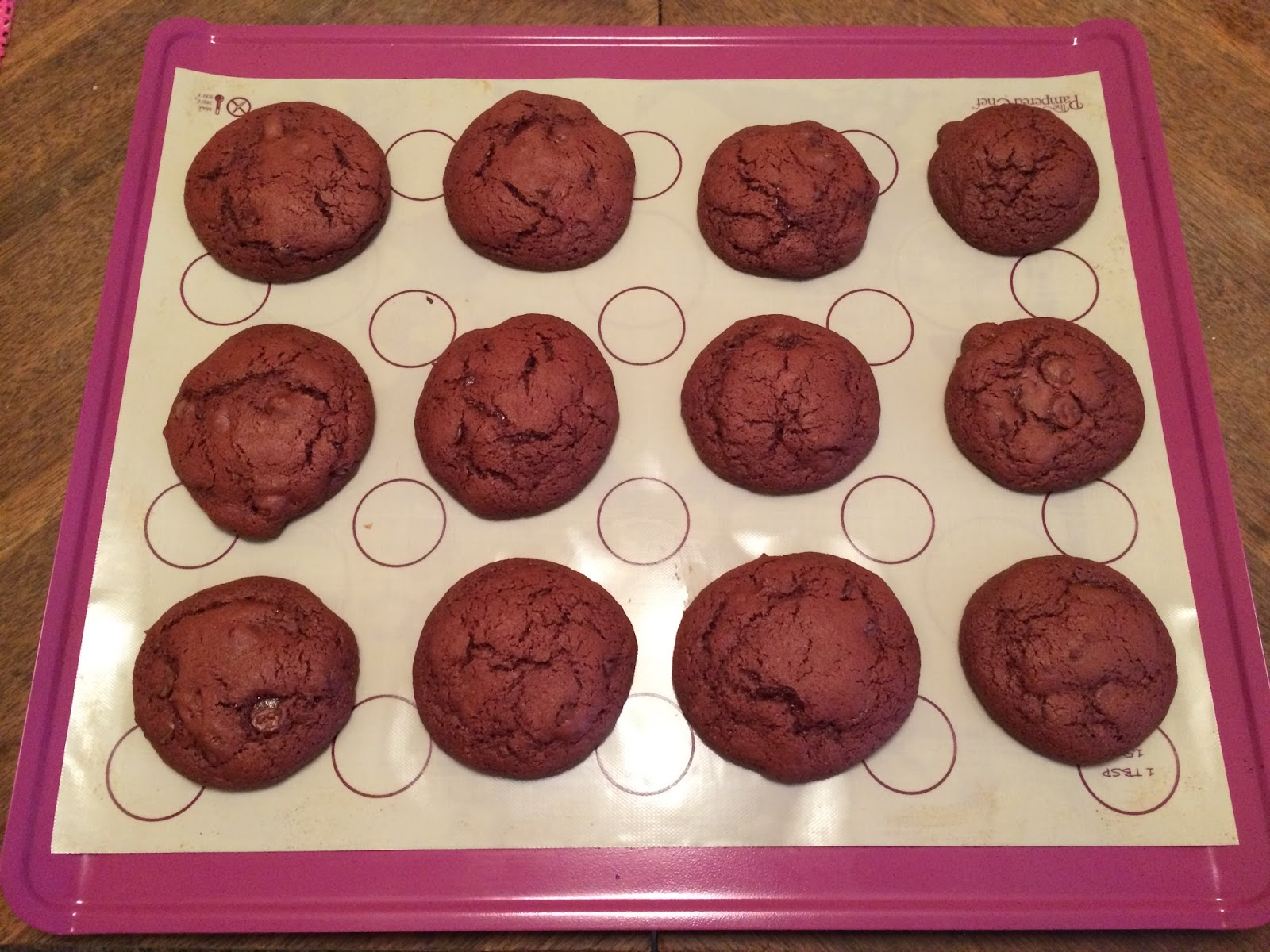 Dolce Bella Baker Red Velvet Chocolate Chip Cookies