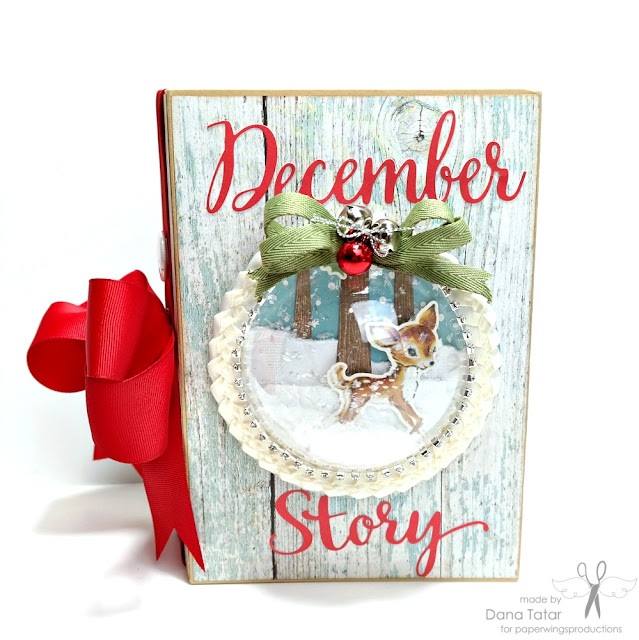 December Story December Daily Mini Album by Dana Tatar for Paper Wings Productions