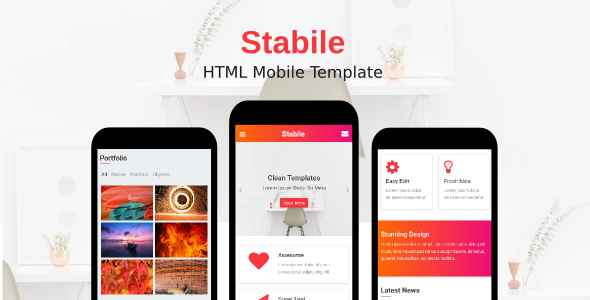 Stabile - HTML Template For Mobile Website