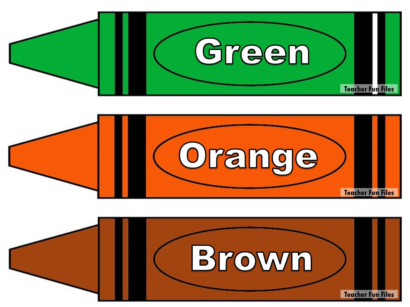 Teacher Fun Files Crayon Color Flashcards For Kindergarten