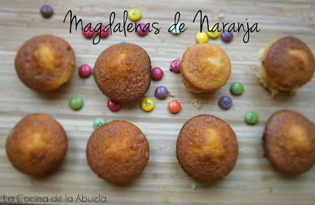 Magdalenas de Naranja Tradicionales.