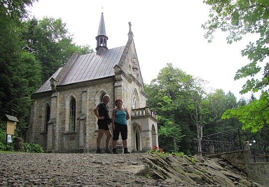Neogotycka kaplica z 1908 roku.