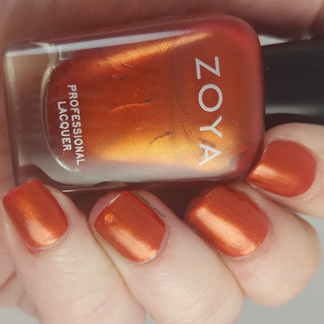 Rustic-copper-orange-nail-polish-with-golden-shimmer