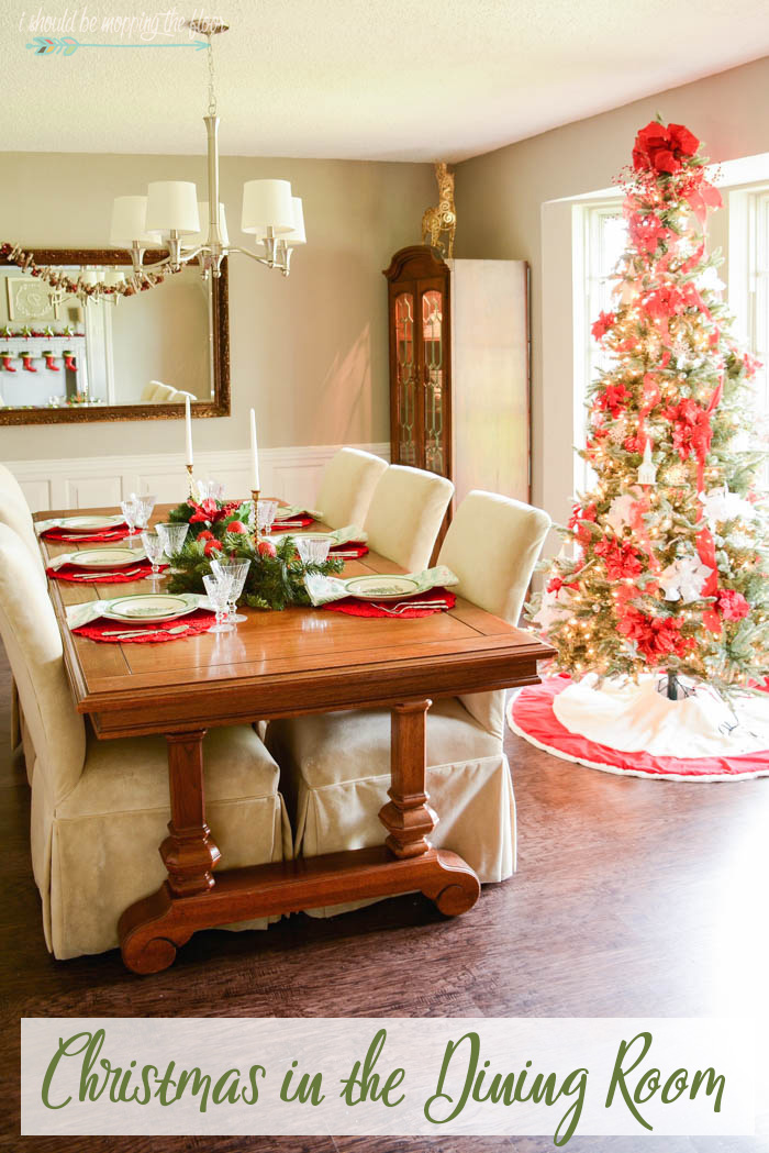 I Should Be Mopping The Floor Christmas Decor In Dining Room Tree Giveaway
