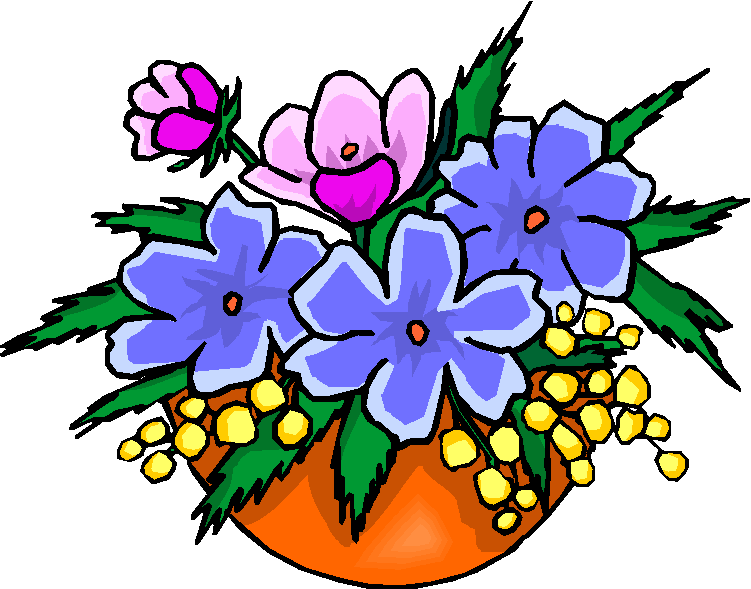 Flower Vase Clipart: Collection Of Flowers In A Vase Free Clipart
