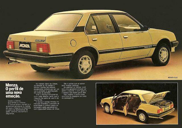Chevrolet Monza SL/E três volumes 1983 1.8